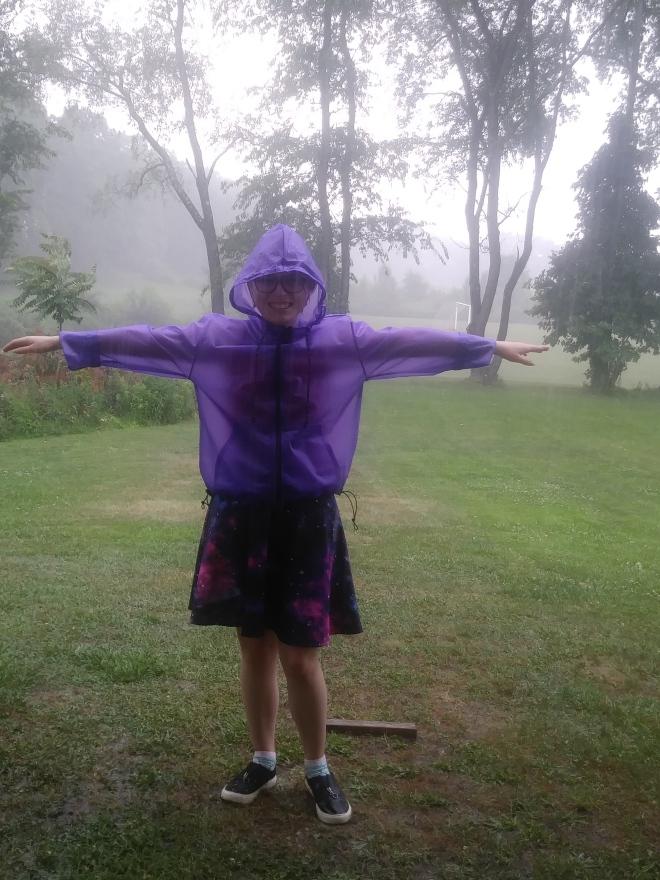 Liz rain coat